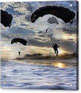 Landing At Sunset Acrylic Print