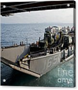 Landing Craft Utility Departs The Well Acrylic Print