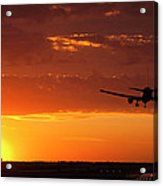 Landing Into The Sunset Acrylic Print by Andrew Soundarajan