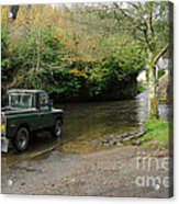 Landrover And The Ford  Acrylic Print