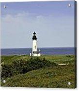 Landscape At Yaquina Lighthouse Acrylic Print