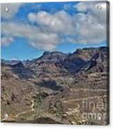 Landscape Amazing Canarian Colors Mountains Acrylic Print