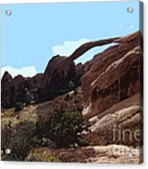 Landscape Arch In Arches National Park Acrylic Print