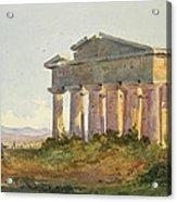 Landscape At Paestum Acrylic Print