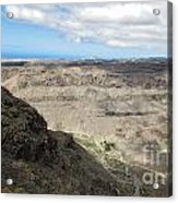 Landscape-canarian Volcanic Mountains Acrylic Print