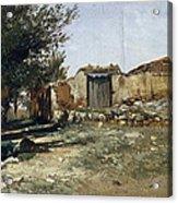 Landscape In Aragon Acrylic Print