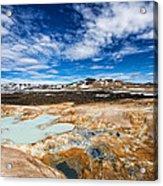 Landscape In North Iceland Leirhnjukur Acrylic Print by Matthias Hauser