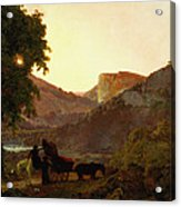 Landscape Acrylic Print by Joseph Wright of Derby