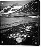 Landscape North Iceland black and white Acrylic Print
