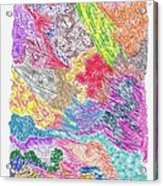Landscape Of Color Acrylic Print
