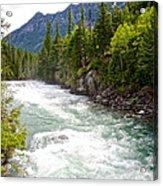 Landscape Of Mcdonald Creek Upstream In Spring In Glacier Np-mt Acrylic Print