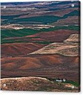 Landscape Of Rolling Farmland Steptoe Butte Washington Art Prints Acrylic Print
