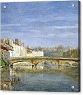 Landscape Oil On Canvas Acrylic Print