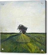 Landscape Painting-lone Tree-barbara J. Hart-oil On Canvas-24 Acrylic Print