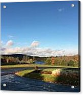 Landscape Skyview Early Morning Poconos Pa Usa America Travel Tour Vacation Peaceful Acrylic Print