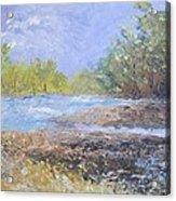 Landscape Whit River Acrylic Print