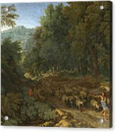 Landscape With A Shepherd And His Flock Acrylic Print
