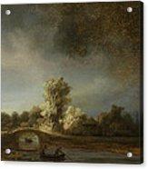 Landscape With A Stone Bridge Acrylic Print
