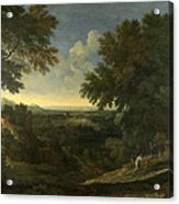 Landscape With Abraham And Isaac Acrylic Print
