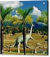 Landscape With Dinosaurs Acrylic Print