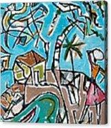 Landscape With Lavadeira Acrylic Print