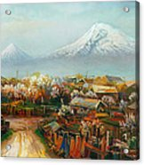 Landscape With Mountain Ararat From The Village Aintap Acrylic Print