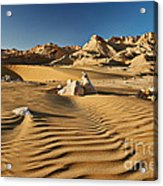 Landscape With Mountains In Egyptian Desert Acrylic Print