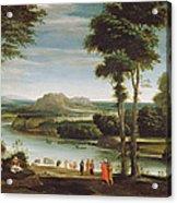Landscape With St. John Baptising Acrylic Print