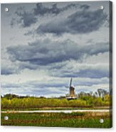 Landscape With The Dezwaan Dutch Windmill On Windmill Island In Holland Michigan Acrylic Print