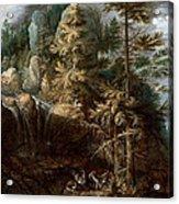 Landscape With The Temptation Of Saint Anthony Acrylic Print