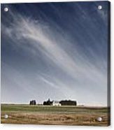 Landscape With White Country Church Acrylic Print