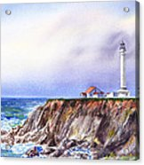 Lighthouse Point Arena California  Acrylic Print