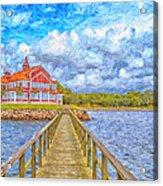 Landskrona Sea Shore Painting Acrylic Print