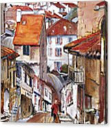 Laneways Of Nerac Acrylic Print by Shirley  Peters