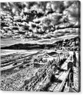 Langland Bay Mono Acrylic Print