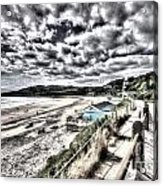 Langland Bay Painterly Acrylic Print