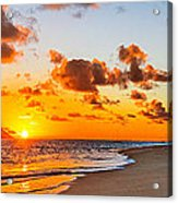 Lanikai Beach Orange Sunrise 3 To 1 Aspect Ratio Acrylic Print