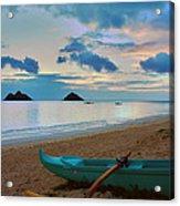 Lanikai Beach Sunrise 6 - Kailua Oahu Hawaii Acrylic Print