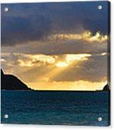 Lanikai Beach Sunrise Panorama 2 - Kailua Oahu Hawaii Acrylic Print