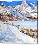 Valbona Snow - Margjeka Hotel Acrylic Print