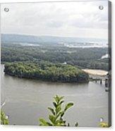 Lansing Bridge Panoramic Acrylic Print