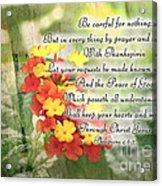 Lantana Greeting Card With Verse Acrylic Print
