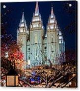 Lantern Bush Slc Temple Acrylic Print
