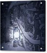 Lantern In Snow Acrylic Print by Joana Kruse