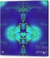 Lantern Of Sapphire Acrylic Print