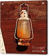 Lantern On Red Acrylic Print