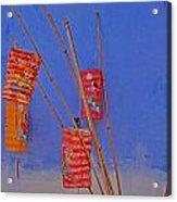 Lanterns A Penang. Acrylic Print