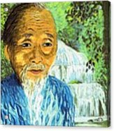Lao Tzu Acrylic Print by Jane Small