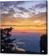 Larch Mountain Sunset Acrylic Print