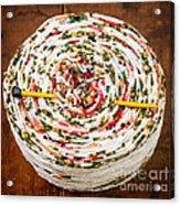 Large Ball Of Colorful Yarn Acrylic Print